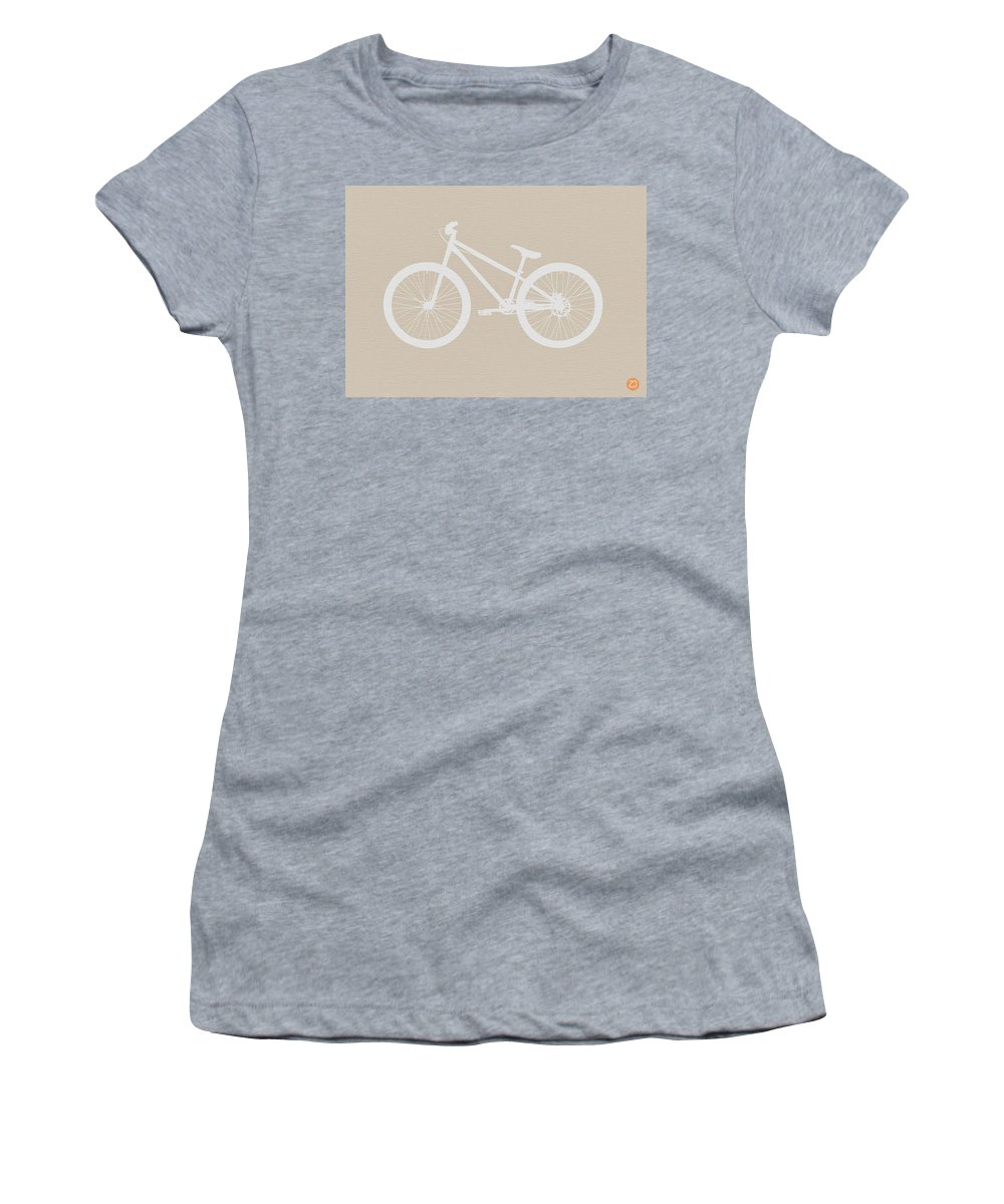 Bicycle Women's T-Shirt featuring the digital art Bicycle Brown Poster by Naxart Studio