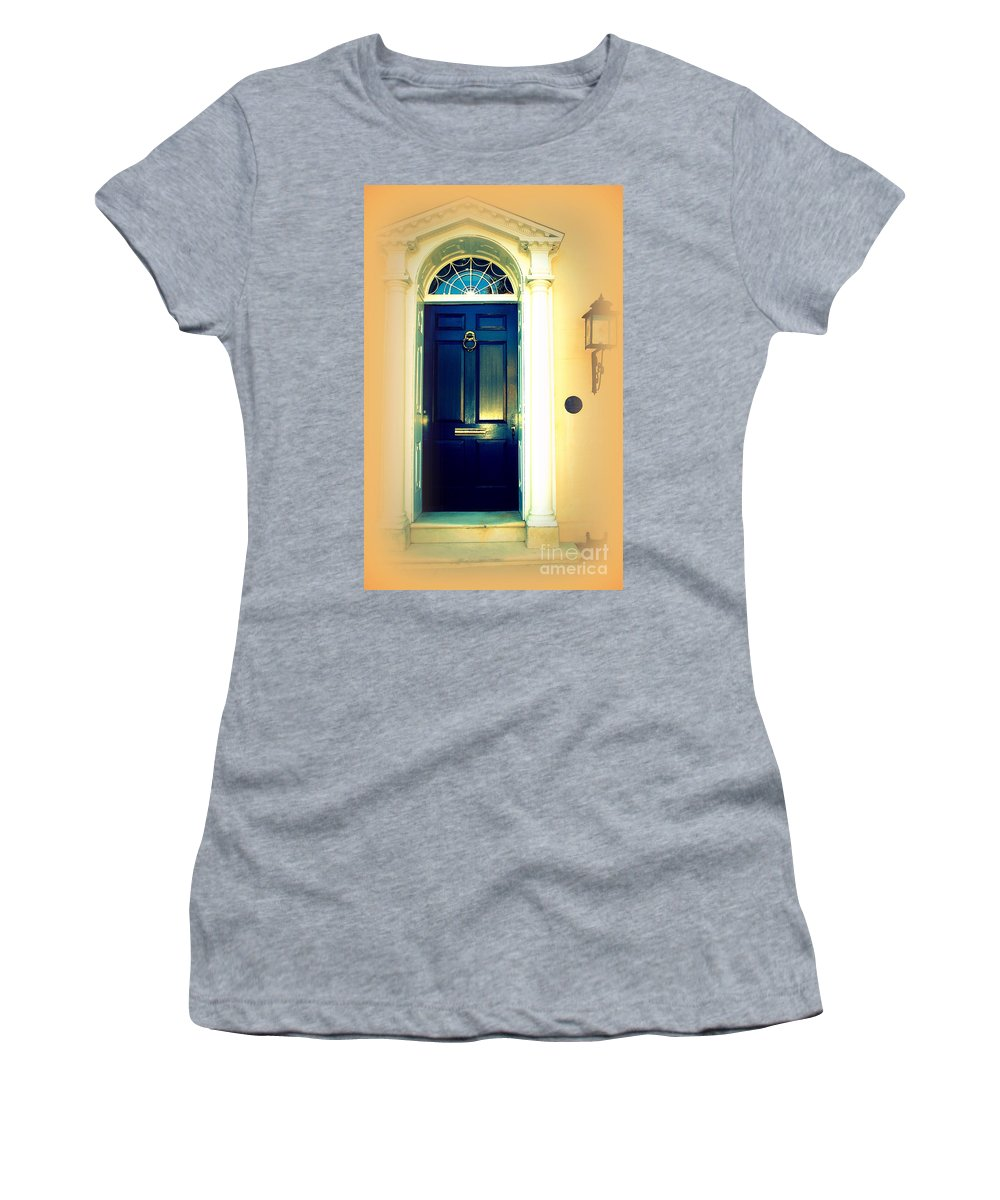Charleston Women's T-Shirt (Athletic Fit) featuring the photograph Charleston Door 3 by Susanne Van Hulst