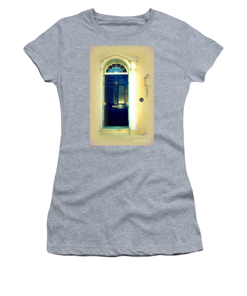 Charleston Women's T-Shirt (Athletic Fit) featuring the photograph Charleston Door 7 by Susanne Van Hulst