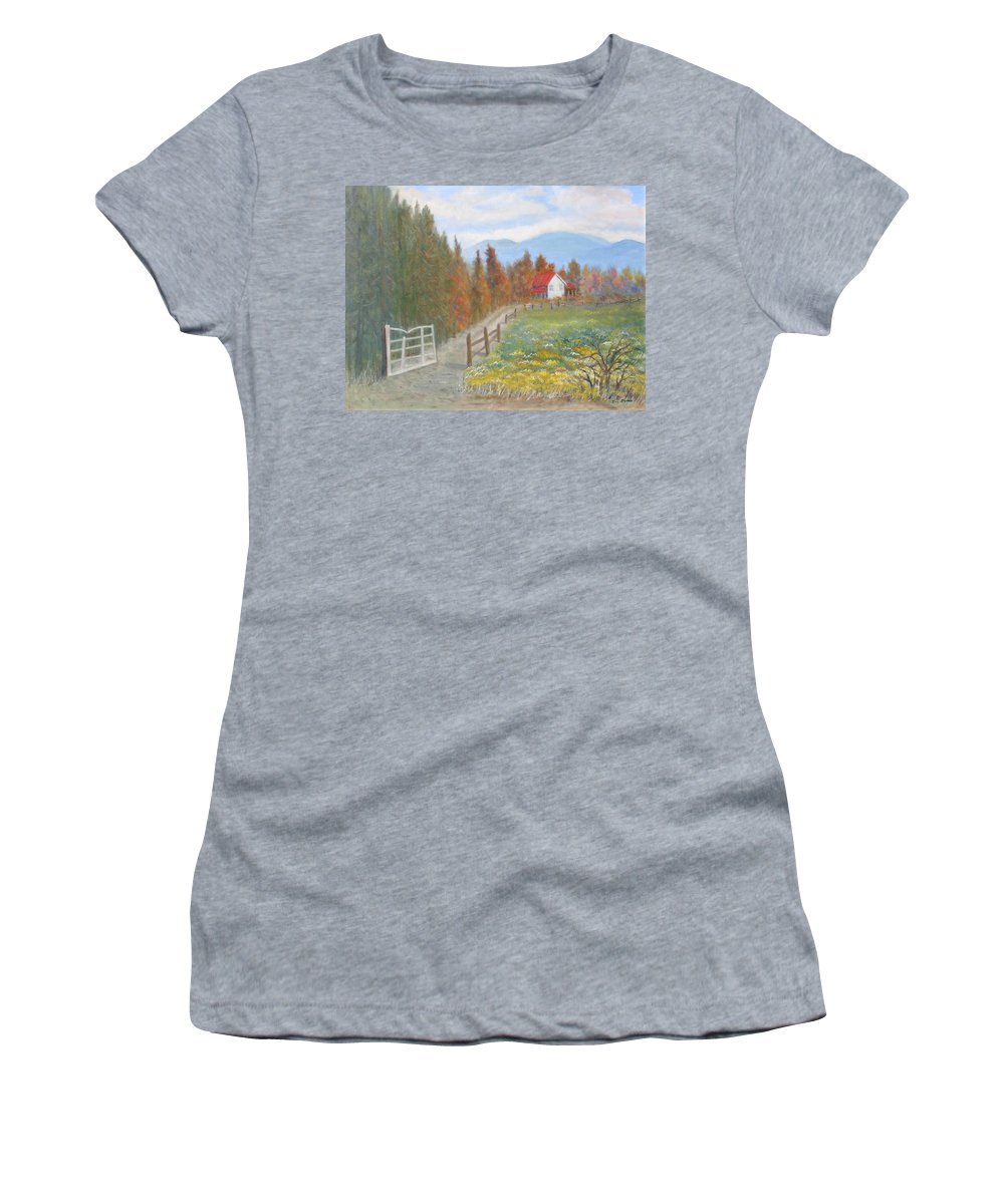 Women's T-Shirt featuring the painting Country Road by Ben Kiger