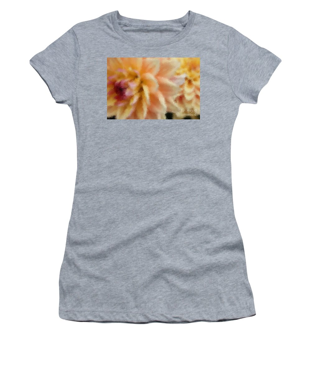 Dahlia Women's T-Shirt (Athletic Fit) featuring the photograph Dahlia Delight 2 by Brook Steed