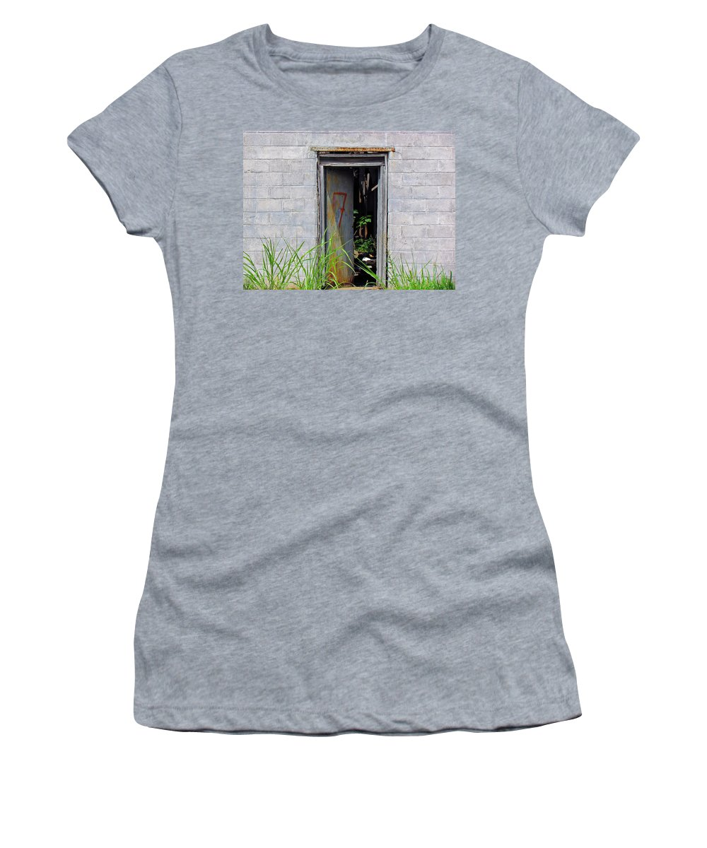 Vintage Artwork Women's T-Shirt featuring the photograph Doorway 7 by Marie Jamieson