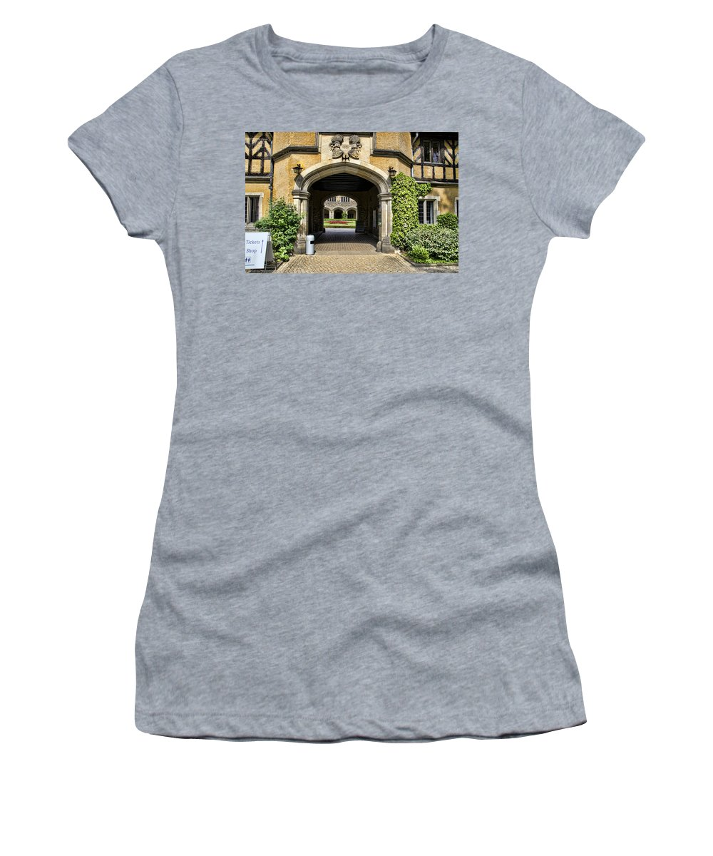 Neuer Garten Women's T-Shirt featuring the photograph Entrance To Cecilienhof Palace by Jon Berghoff