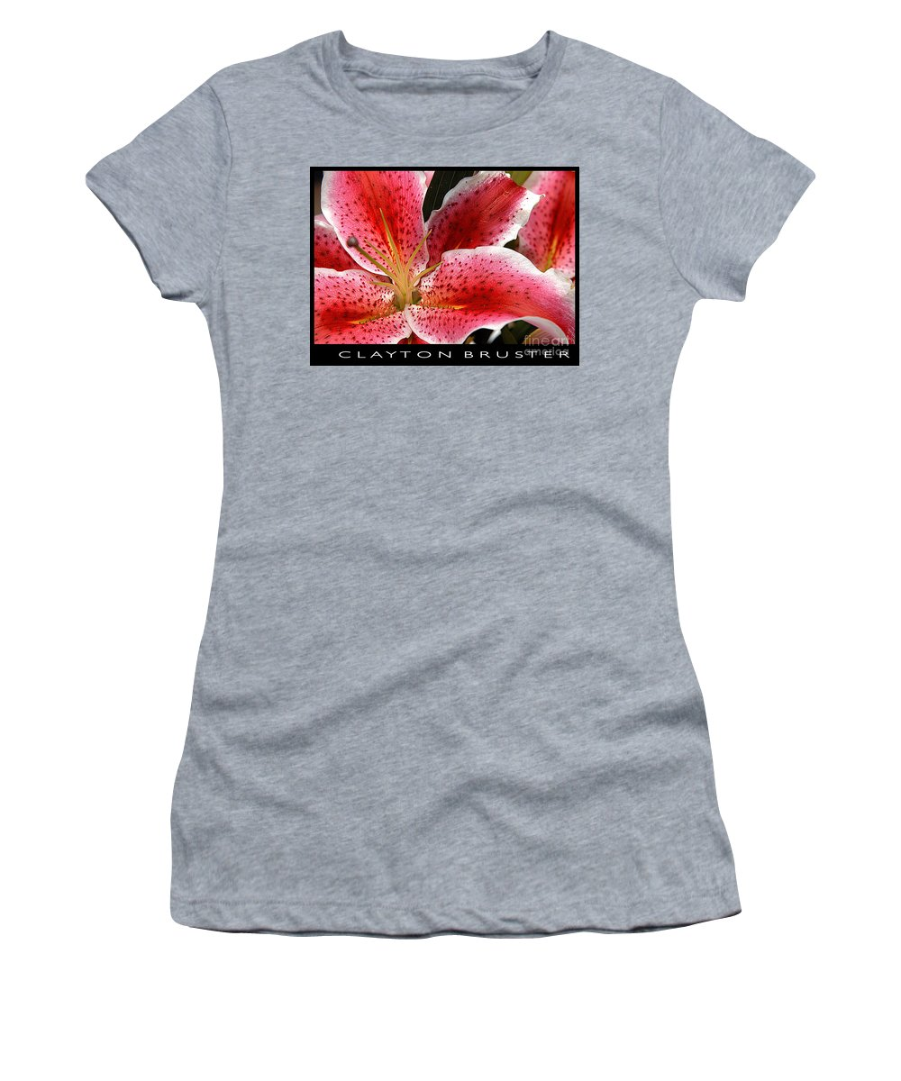 Clay Women's T-Shirt (Athletic Fit) featuring the photograph Floral Textures I by Clayton Bruster