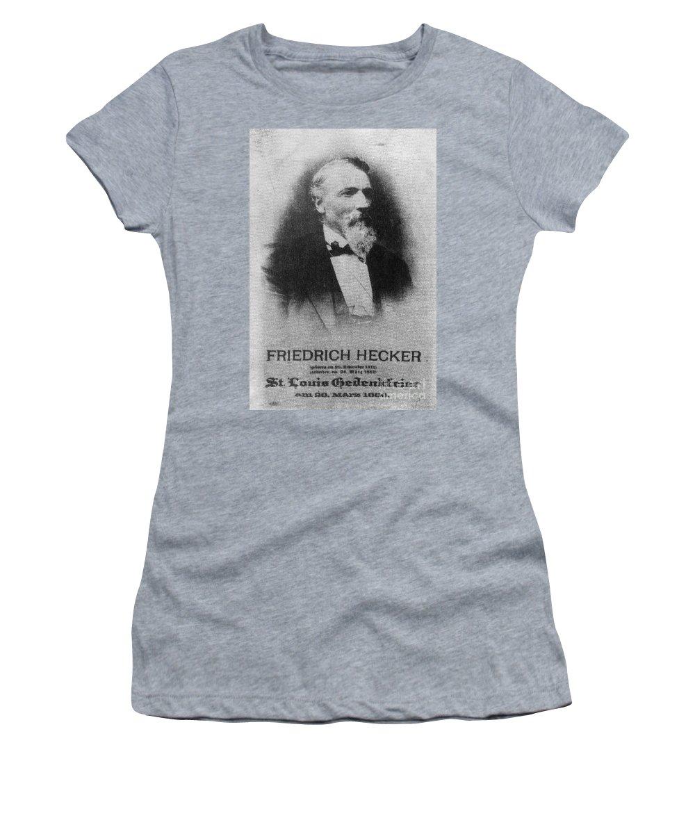 1886 Women's T-Shirt featuring the photograph Friedrich Hecker by Granger