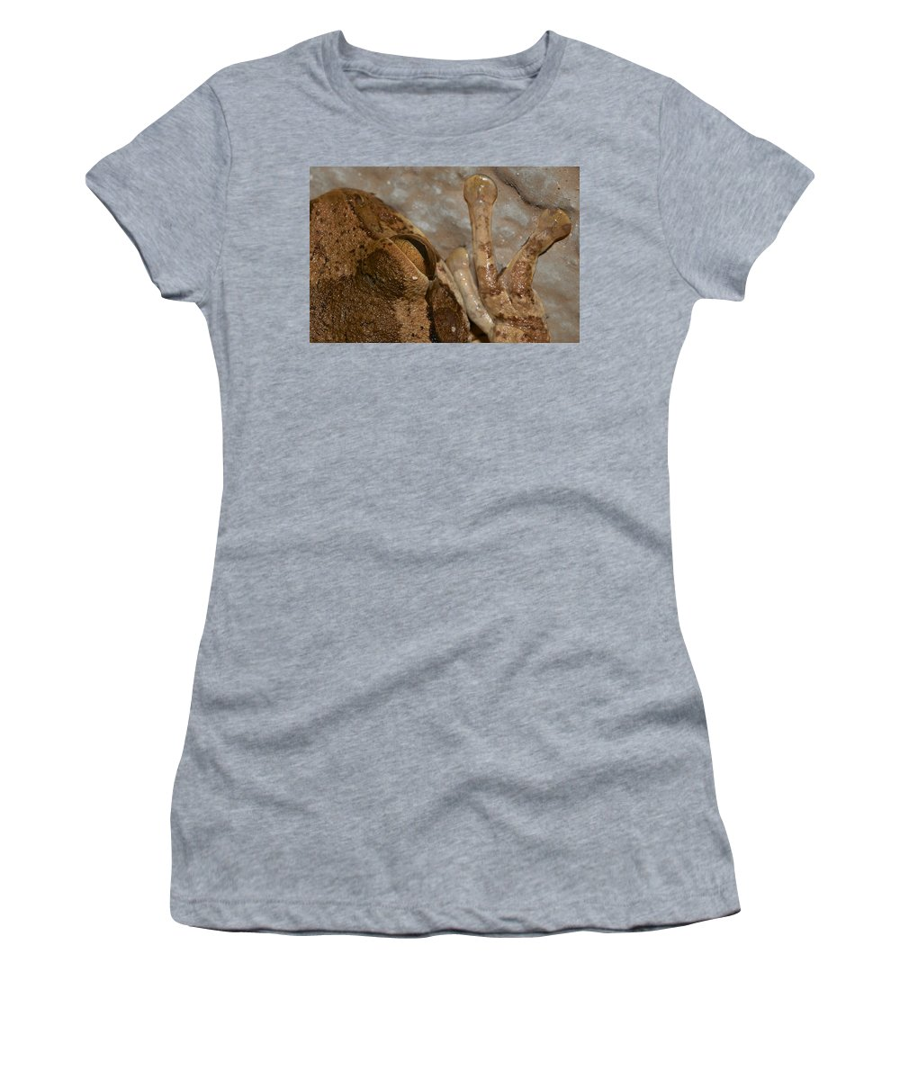 Women's T-Shirt (Athletic Fit) featuring the photograph Frog In A Strange Pov by David Resnikoff
