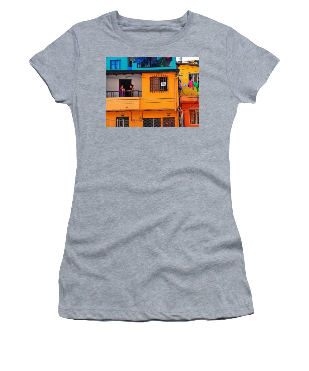 Girl Talk Women's T-Shirt (Athletic Fit) featuring the photograph Girl Talk by Skip Hunt