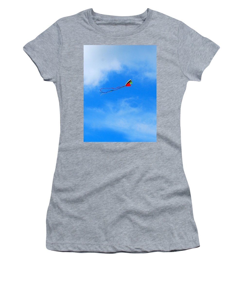 Kite Women's T-Shirt featuring the digital art Go Fly A Kite Gfakp by Jim Brage