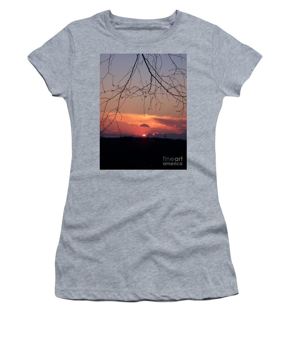 Color Photography Women's T-Shirt (Athletic Fit) featuring the photograph Going Down by Sue Stefanowicz