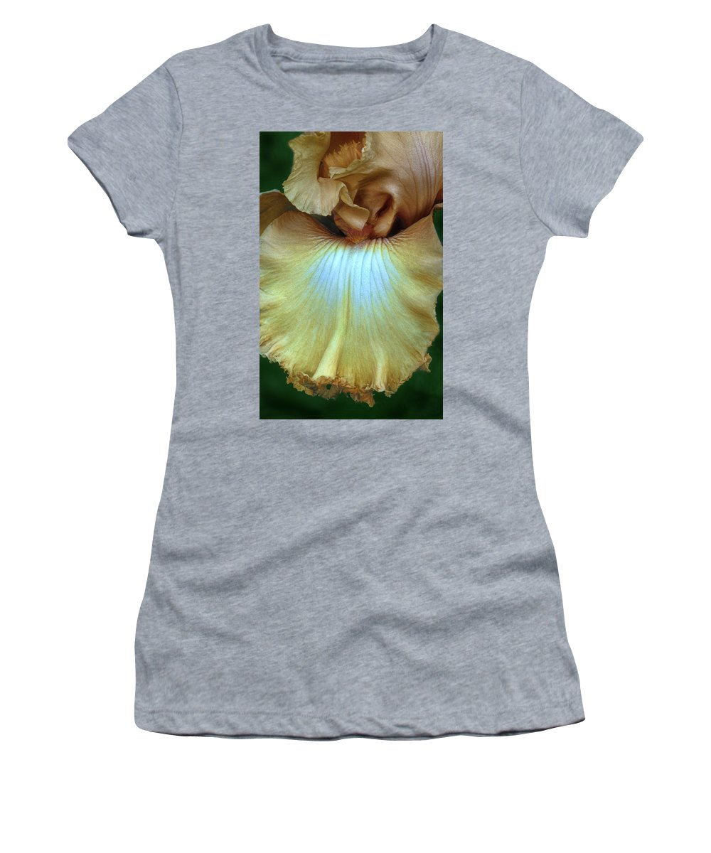 Iris Women's T-Shirt (Athletic Fit) featuring the photograph Golden Iris by Dave Mills