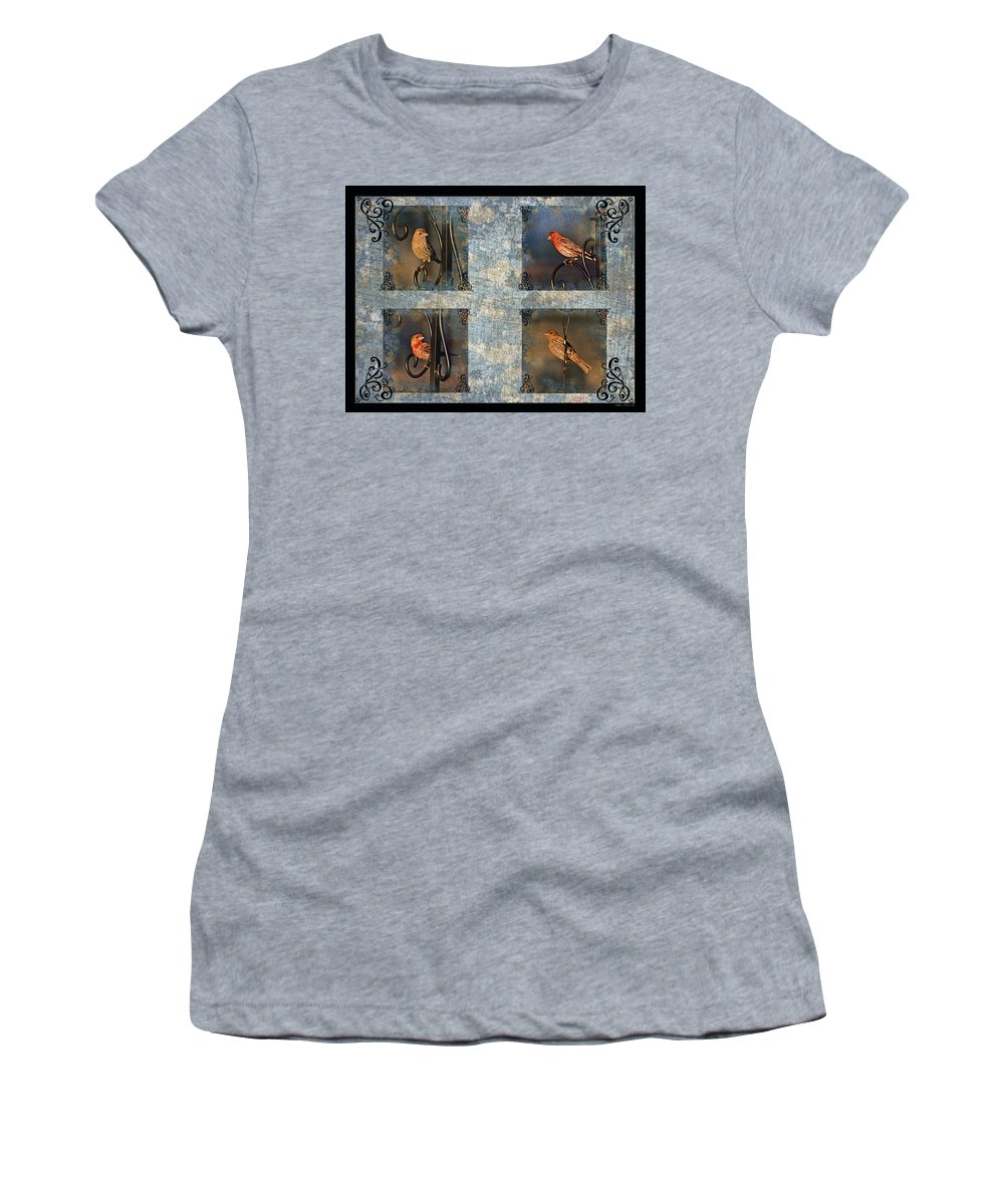 Nature Women's T-Shirt featuring the photograph Good Moning Sunshine Collage by Debbie Portwood
