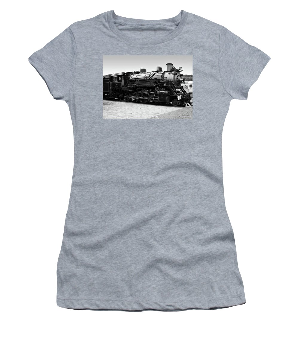 Train Women's T-Shirt (Athletic Fit) featuring the photograph Grand Canyon Train by Ricky Barnard