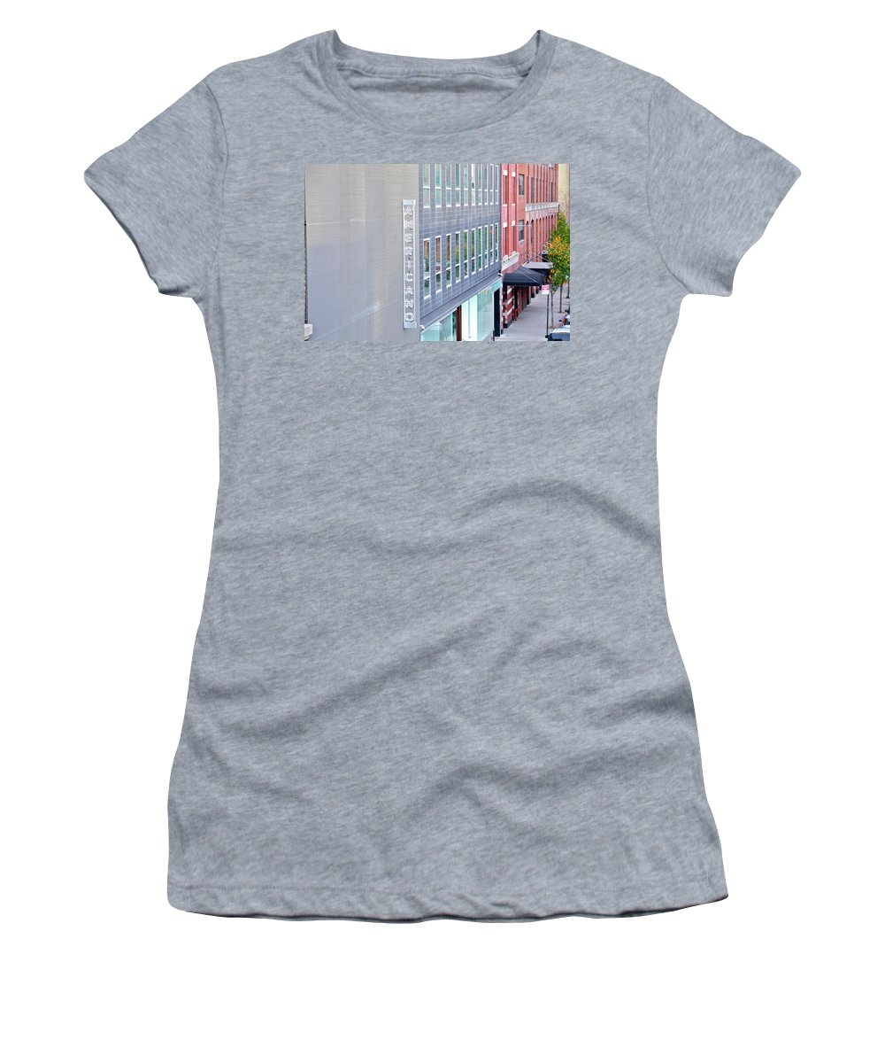 The High Line Women's T-Shirt (Athletic Fit) featuring the photograph High Line Print 27 by Terry Wallace