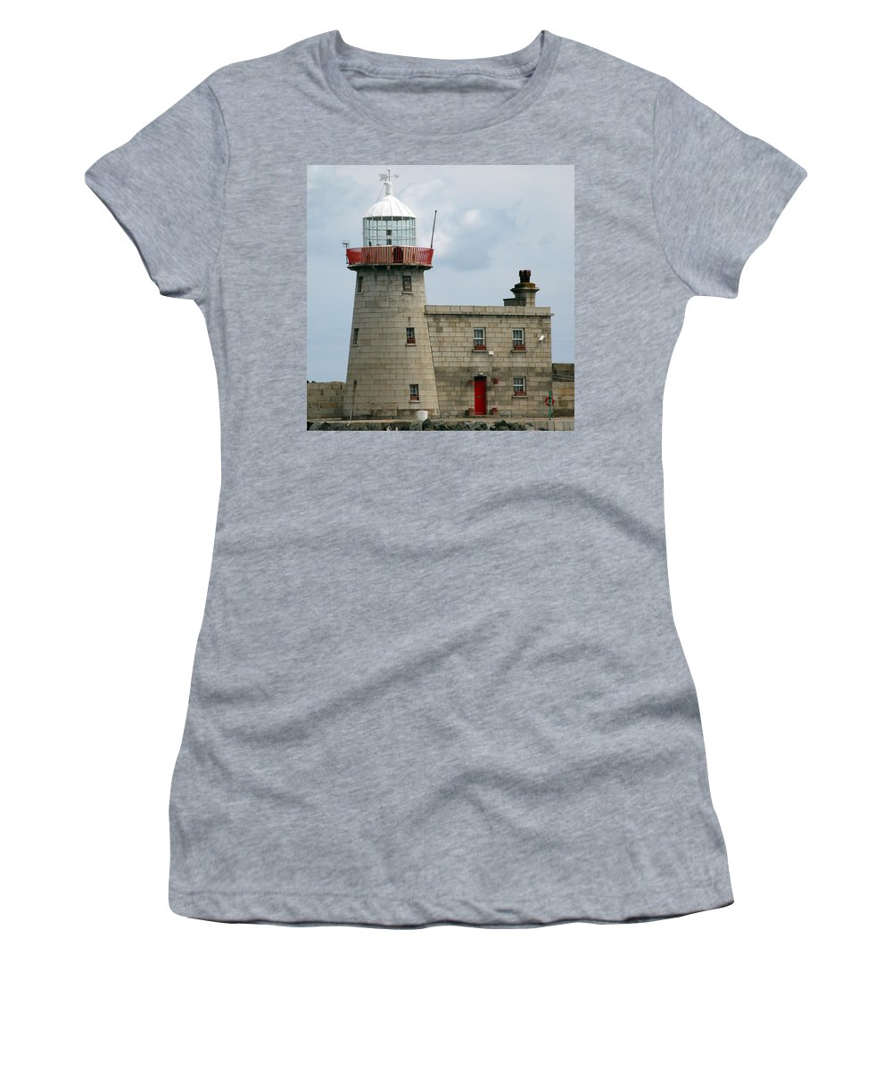 Howth Lighthouse Women's T-Shirt featuring the photograph Howth Lighthouse 0001 by Carol Ann Thomas
