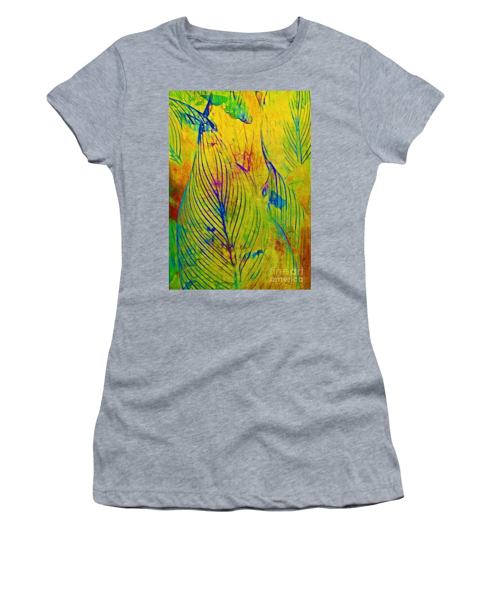Jungle Women's T-Shirt (Athletic Fit) featuring the photograph Leaves In The Jungle by Judi Bagwell