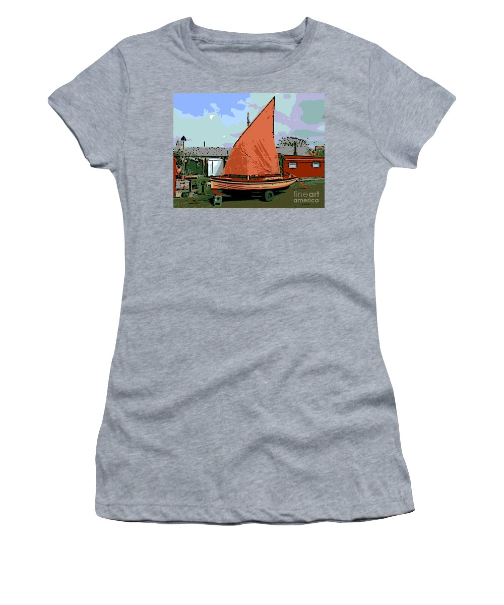 Lobster Boat Women's T-Shirt featuring the photograph Lobster Boat by George Pedro