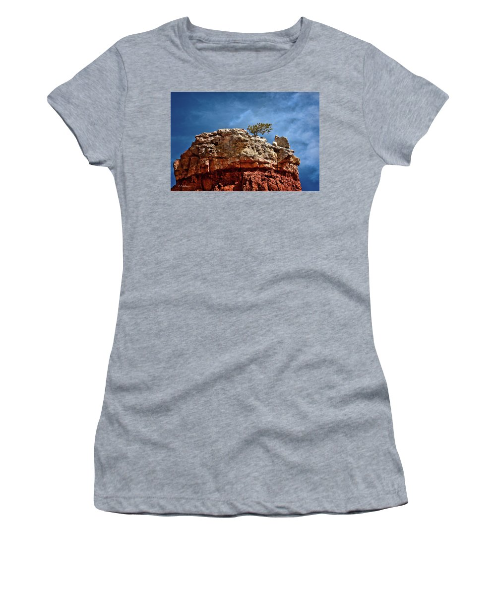 Rock Women's T-Shirt featuring the photograph Lofty Solitude by Christopher Holmes