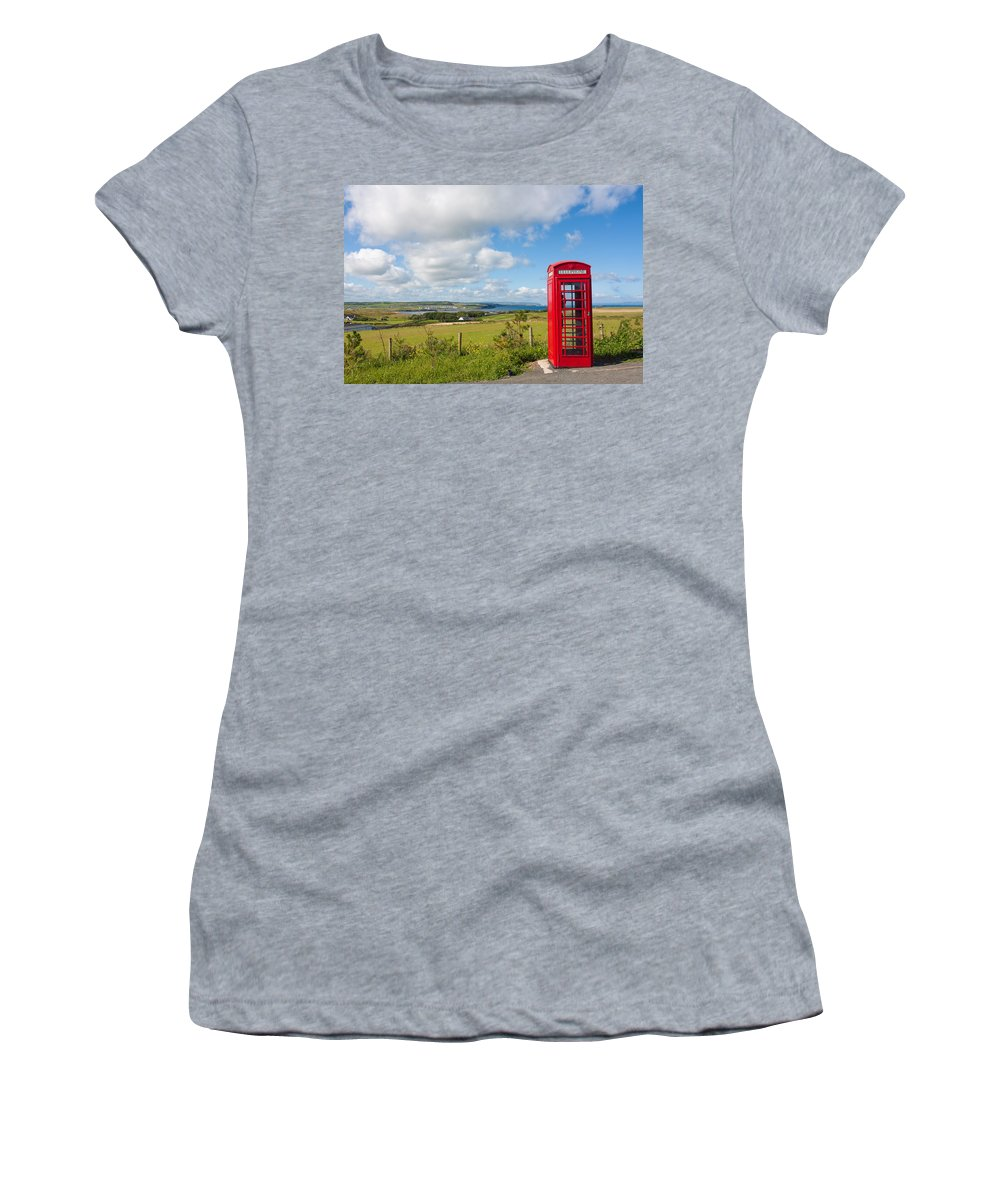 Blue Women's T-Shirt (Athletic Fit) featuring the photograph Lost Calls by Semmick Photo