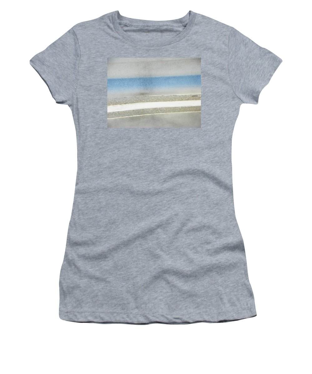 Abstract Women's T-Shirt (Athletic Fit) featuring the photograph Minimalism In Primarily Grey by Lenore Senior