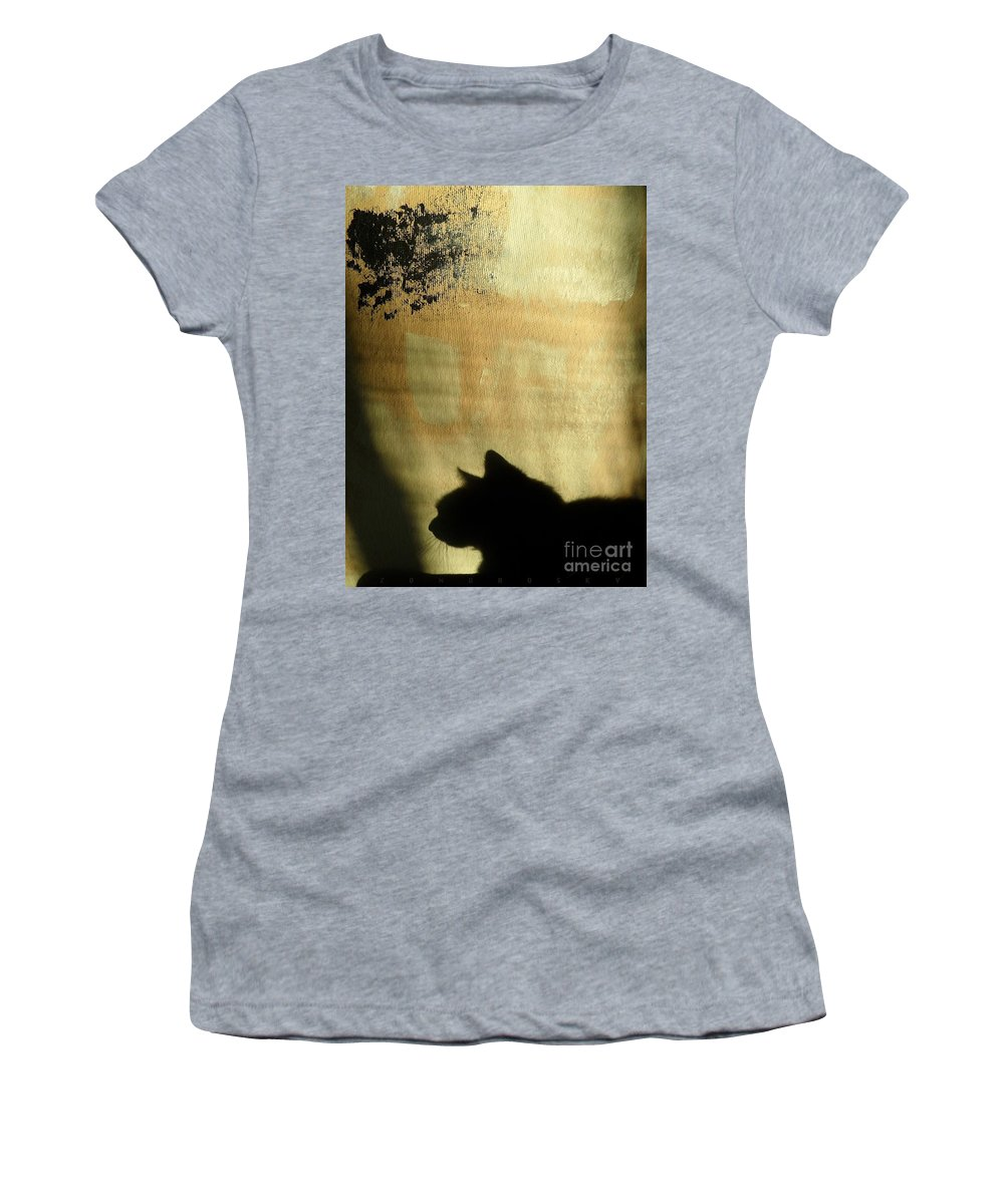 Paul-emile Borduas Women's T-Shirt featuring the mixed media Mips Sur Borduas by Contemporary Luxury Fine Art