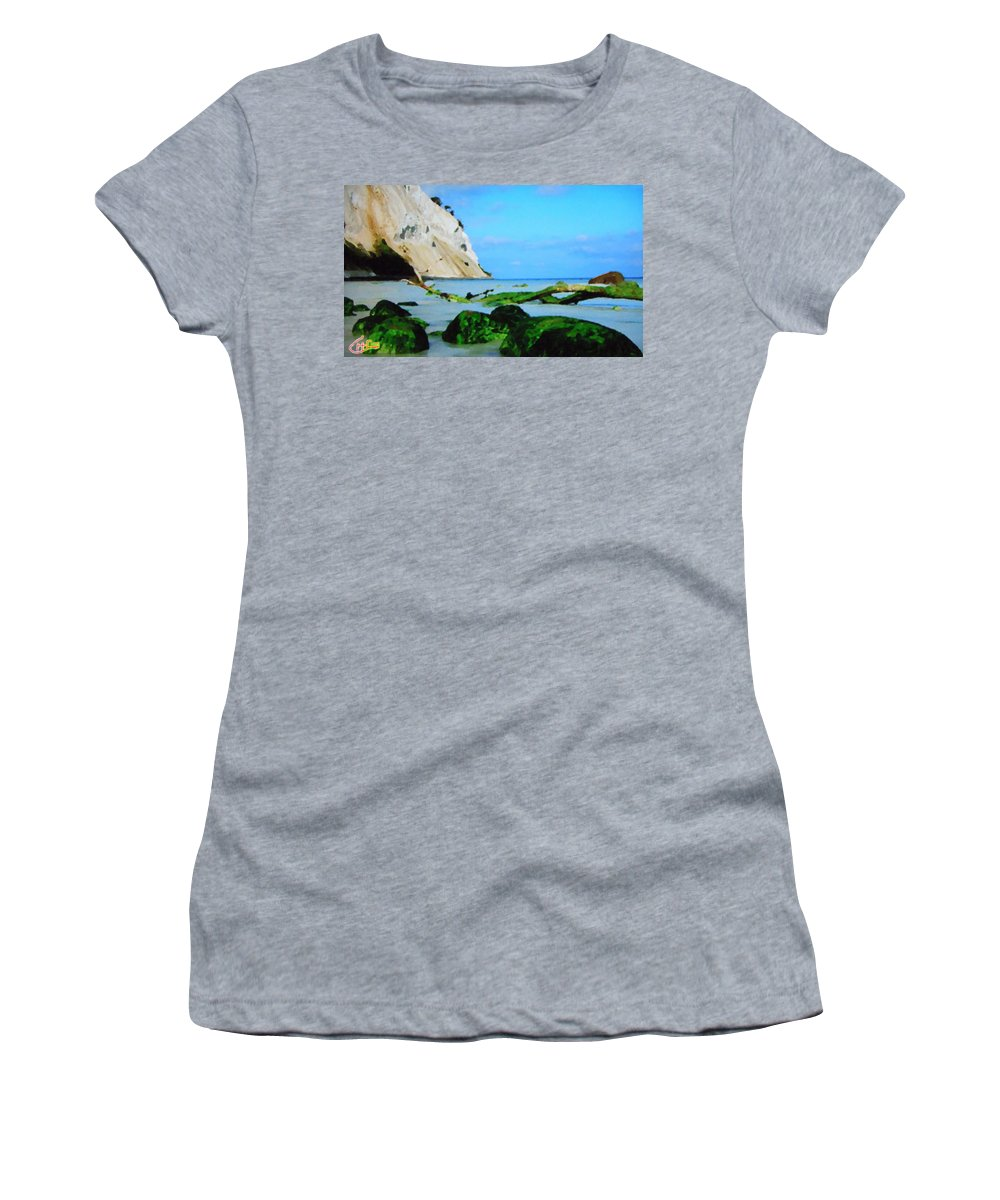 Colette Women's T-Shirt (Athletic Fit) featuring the photograph Moens Clif Nature by Colette V Hera Guggenheim