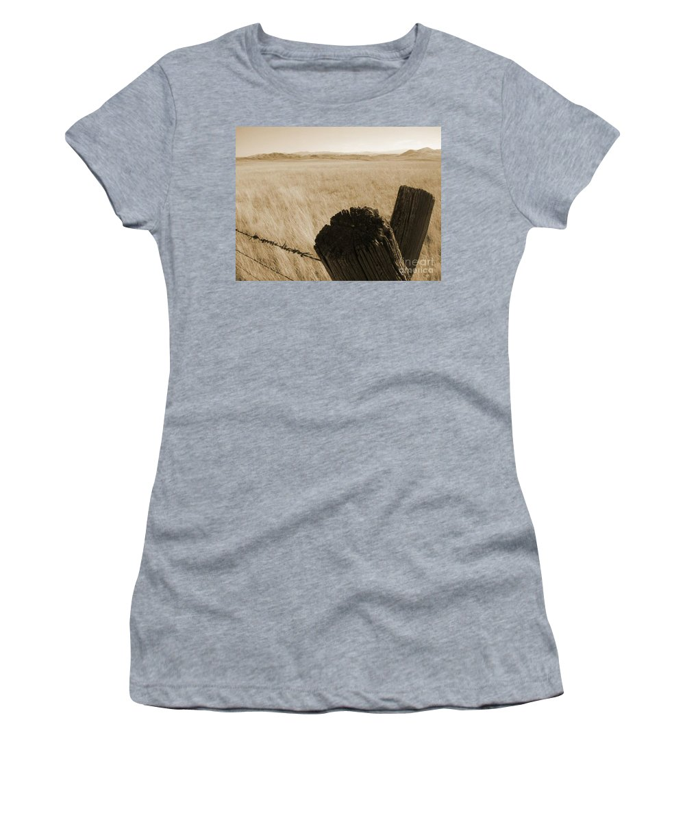 Montana Women's T-Shirt (Athletic Fit) featuring the photograph Montana Vista by Bruce Patrick Smith