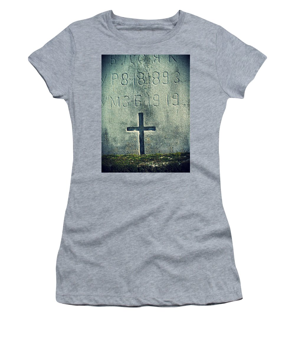 Moss Women's T-Shirt (Athletic Fit) featuring the photograph Mossy Tomb by Michele Nelson