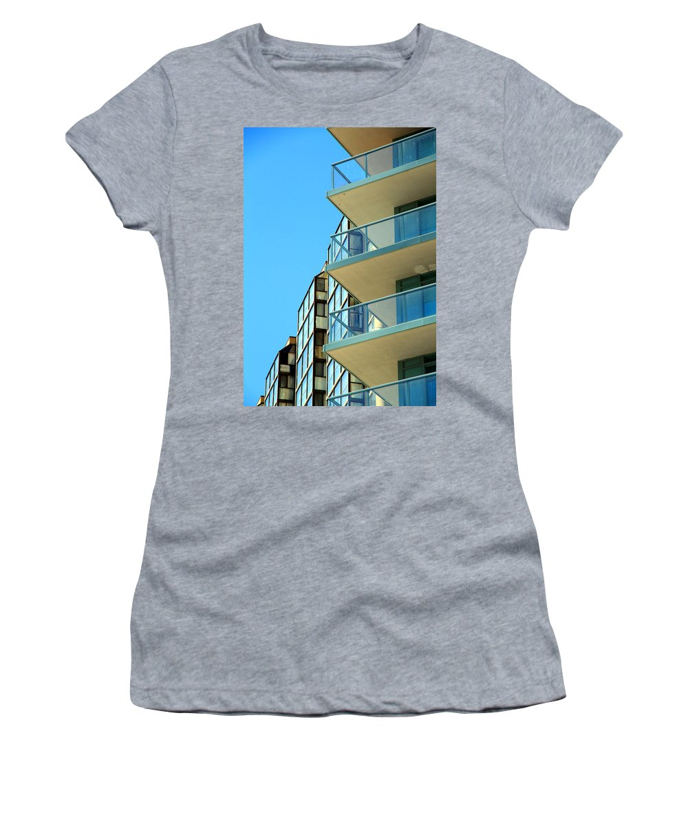Architecture Women's T-Shirt featuring the photograph New Condo by Valentino Visentini