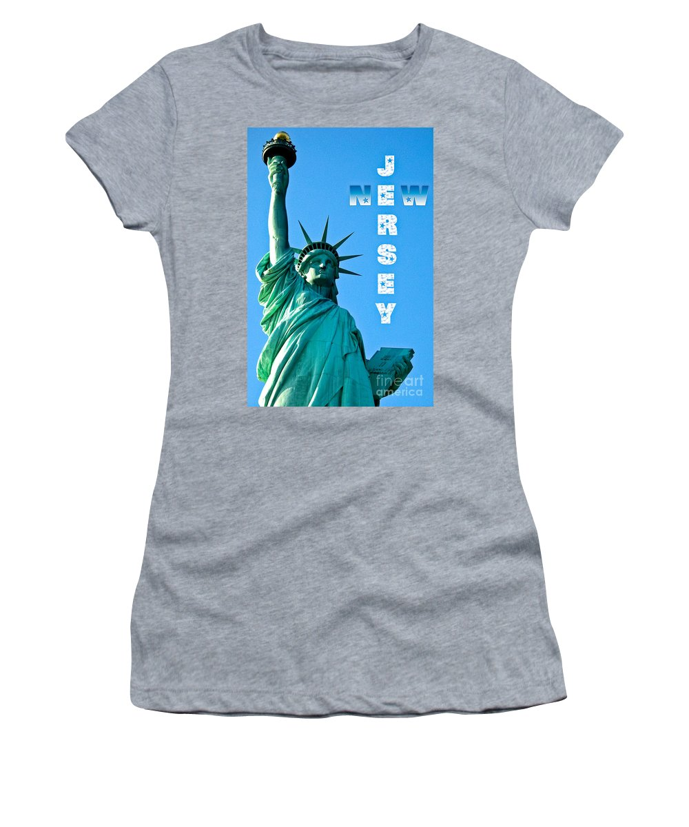 New Jersey Women's T-Shirt (Athletic Fit) featuring the photograph New Jersey by Syed Aqueel