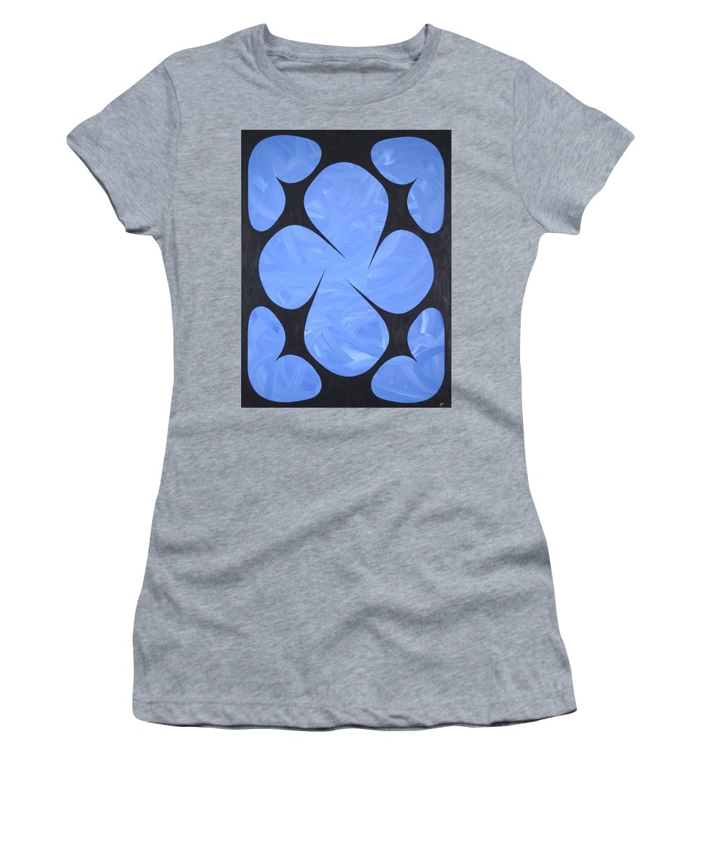 Abstract Women's T-Shirt (Athletic Fit) featuring the painting No 1 by James Hamilton