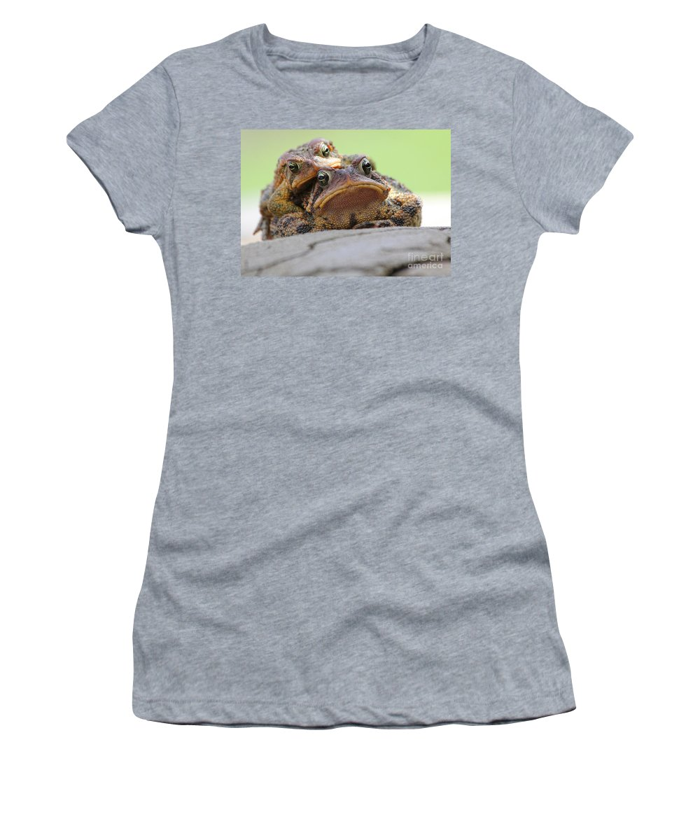 Toads Women's T-Shirt (Athletic Fit) featuring the photograph No Privacy by Jack Schultz