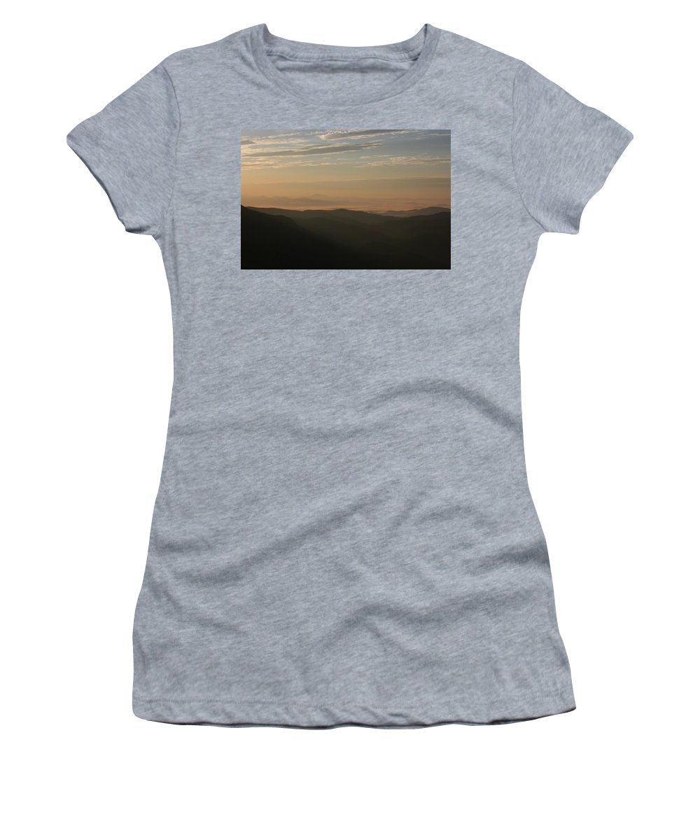 North Carolina Women's T-Shirt (Athletic Fit) featuring the photograph North Carolina Sunrise by Stacy C Bottoms