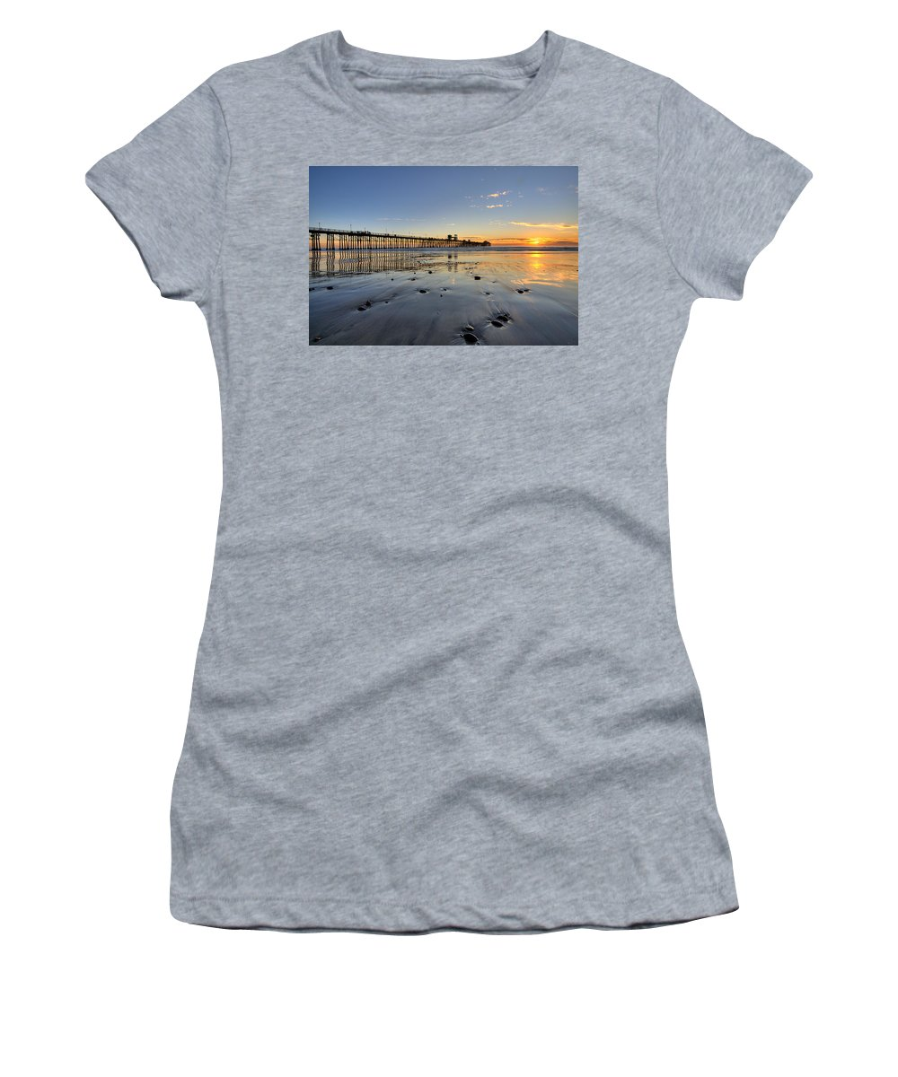 California Women's T-Shirt featuring the photograph Oceanside Pier by Peter Tellone