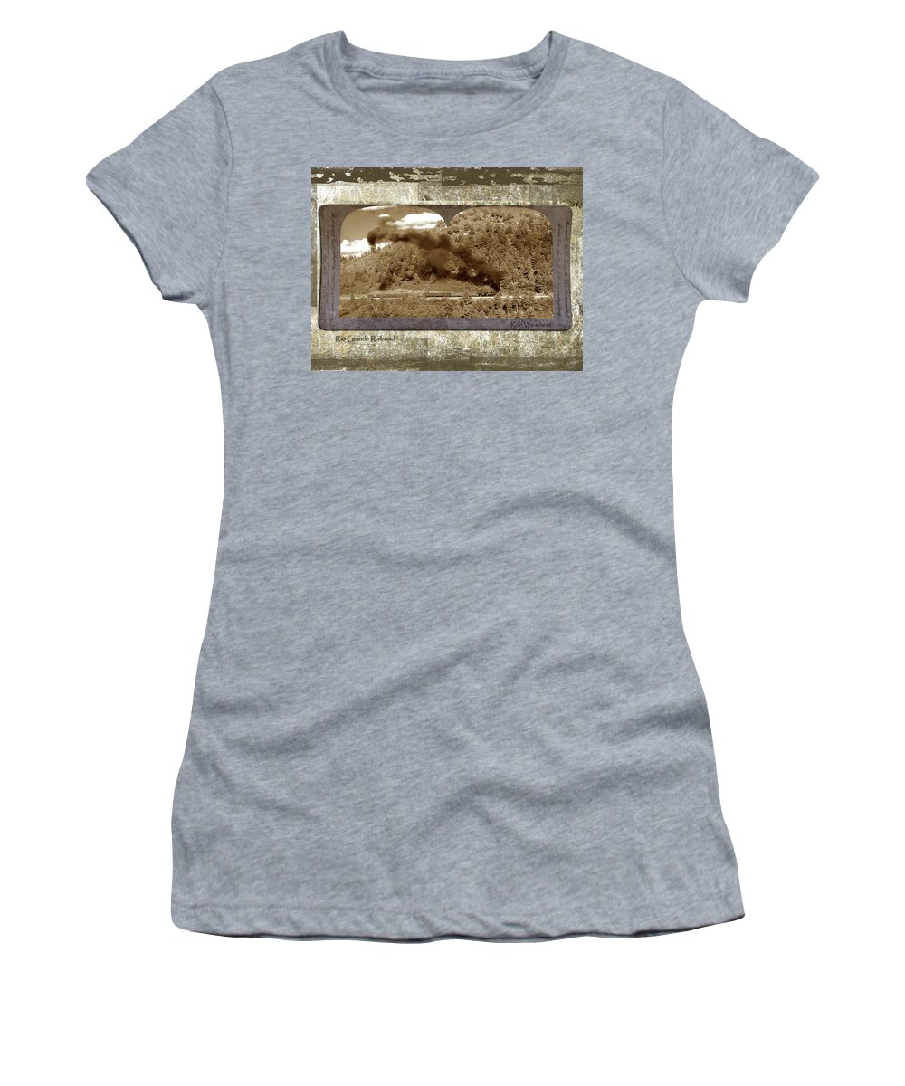 Steam Train Women's T-Shirt (Athletic Fit) featuring the photograph Old Train 1 by Ron Weathers