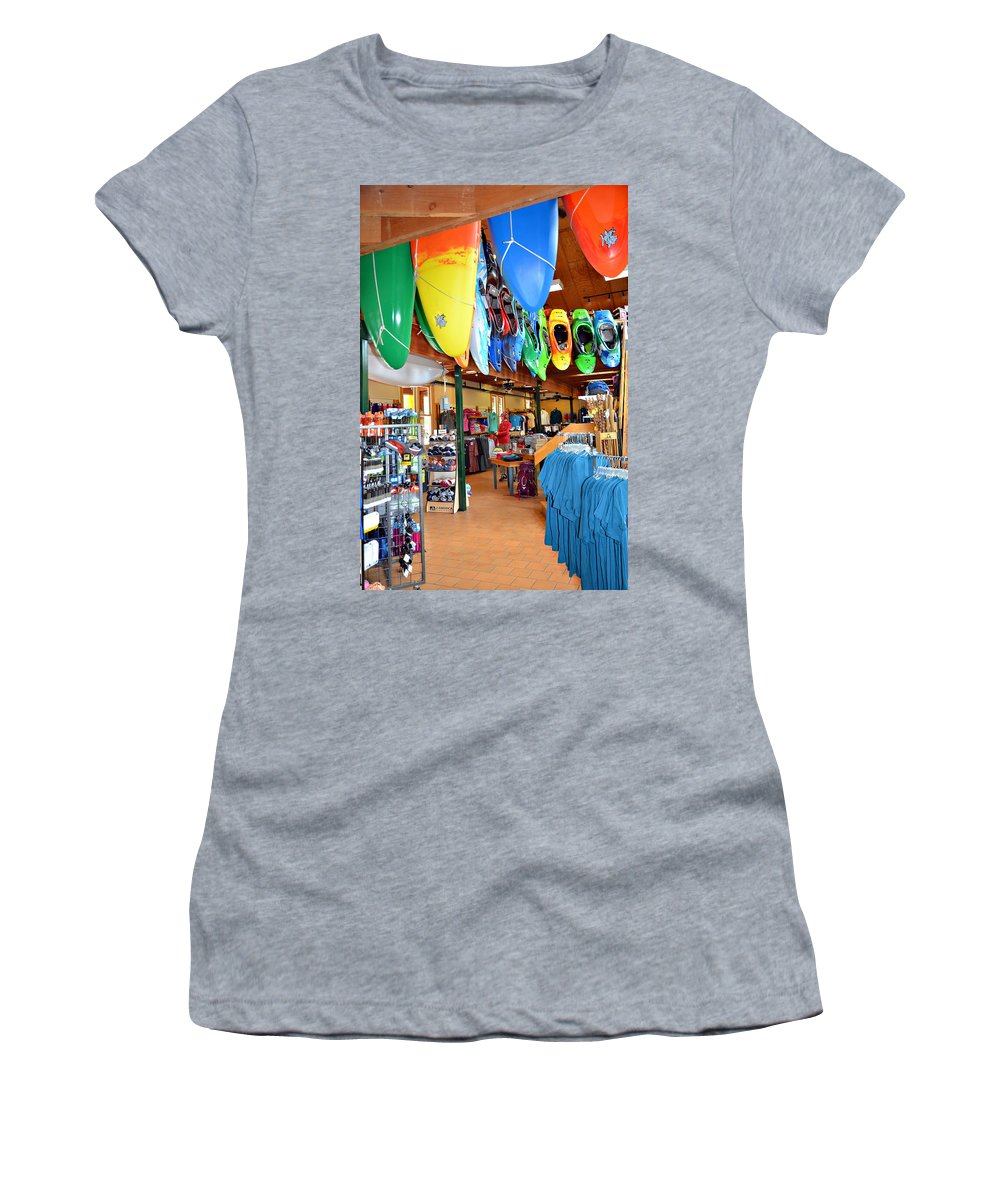 Store Women's T-Shirt (Athletic Fit) featuring the photograph Outdoor Adventures by Susan Leggett
