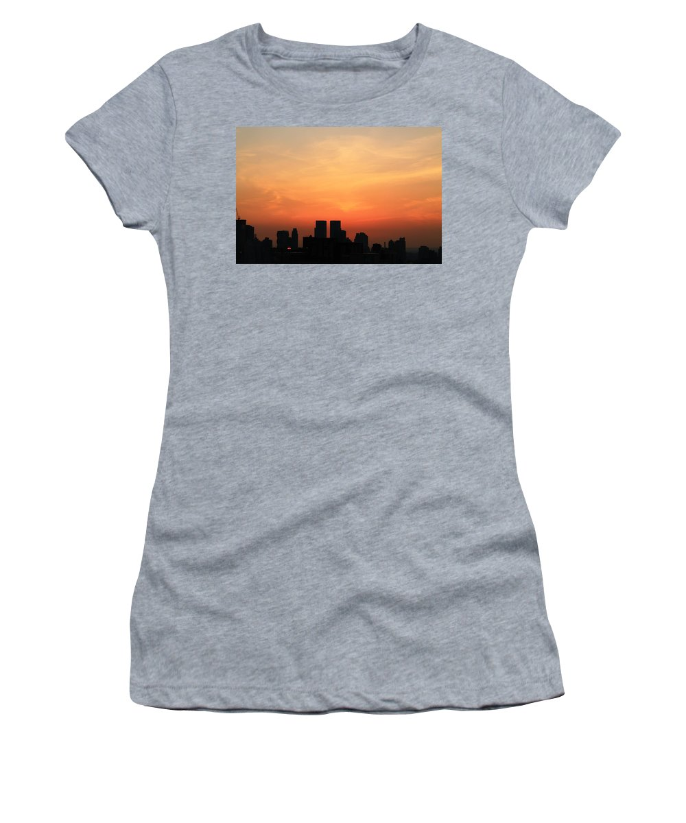 Sunset Women's T-Shirt featuring the photograph Painted Sky by Catie Canetti