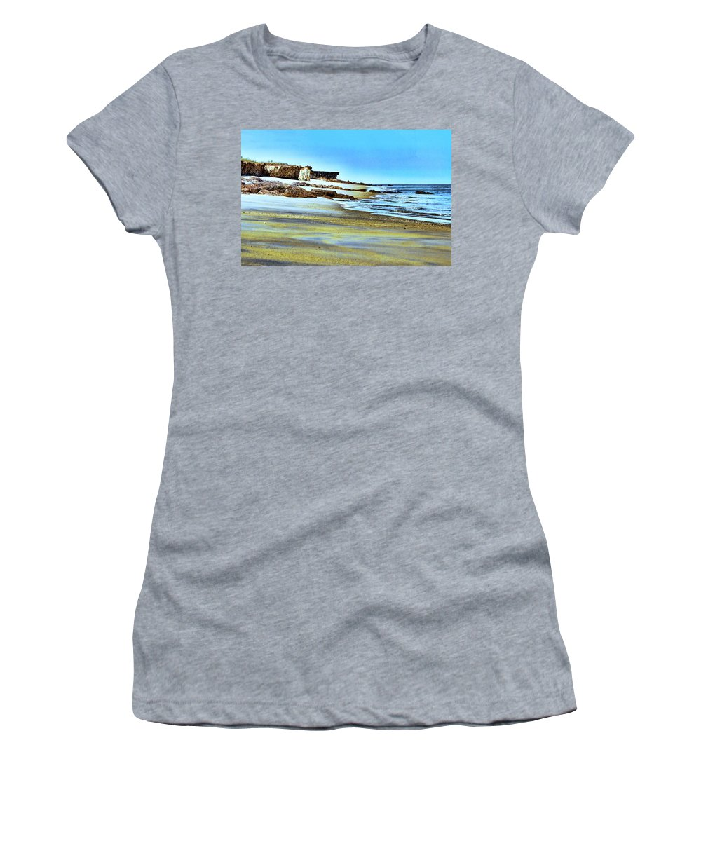 Beach Women's T-Shirt (Athletic Fit) featuring the photograph Pastel Beach by Douglas Barnard