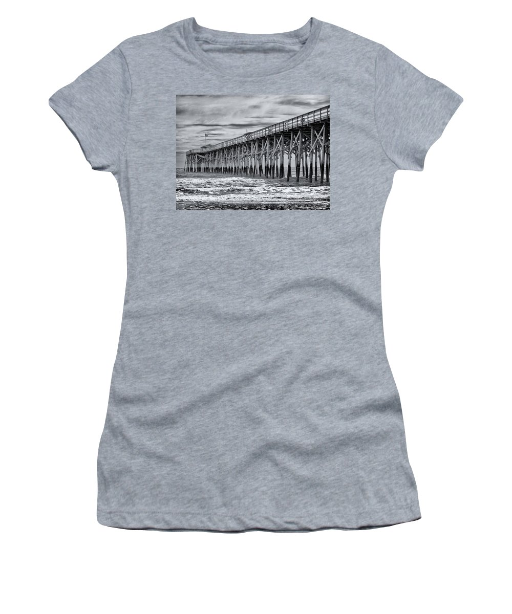 Pier Women's T-Shirt featuring the photograph Pawleys Island Pier by Fran Gallogly