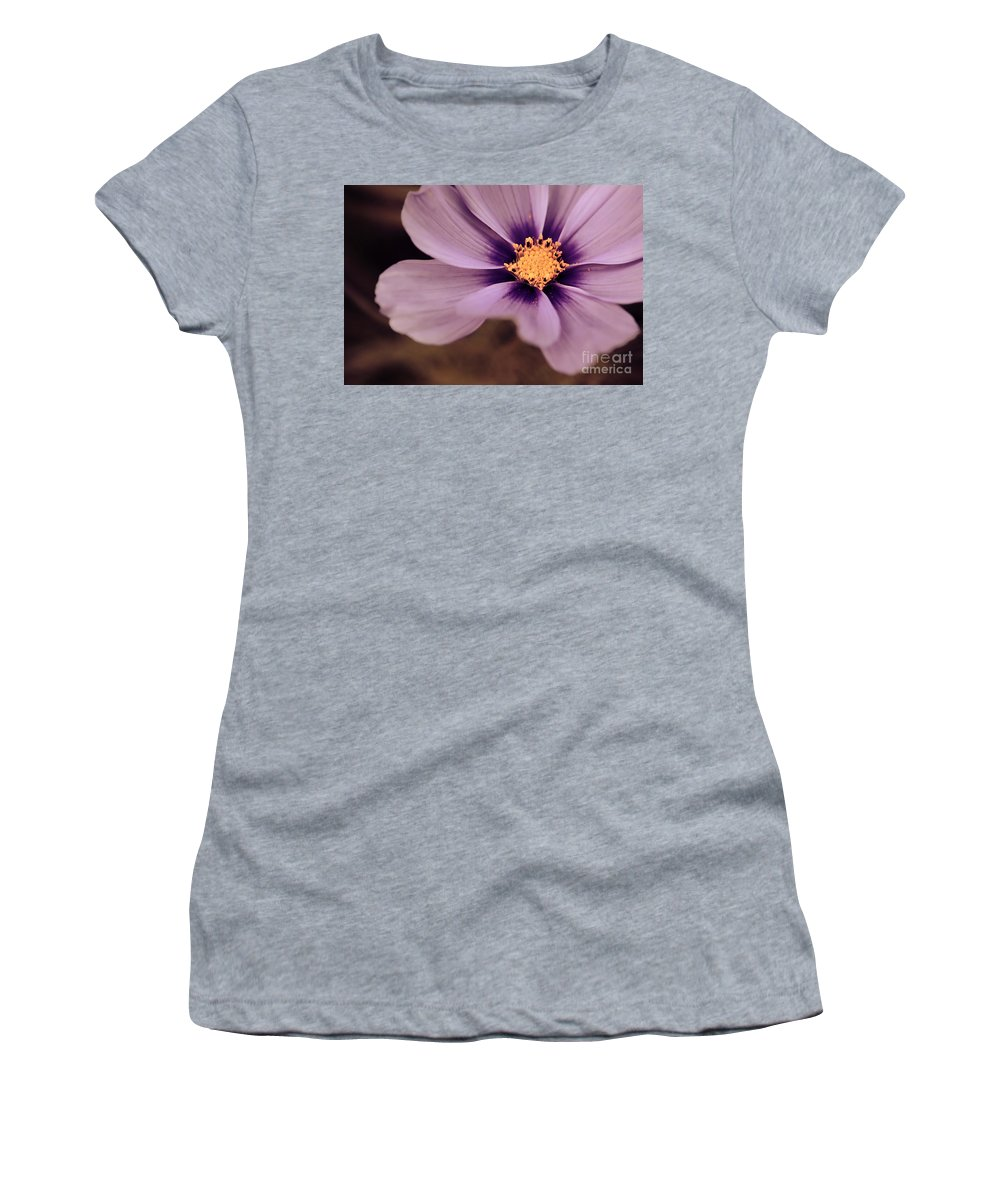 Flower Women's T-Shirt (Athletic Fit) featuring the photograph Petaline - P04d by Variance Collections
