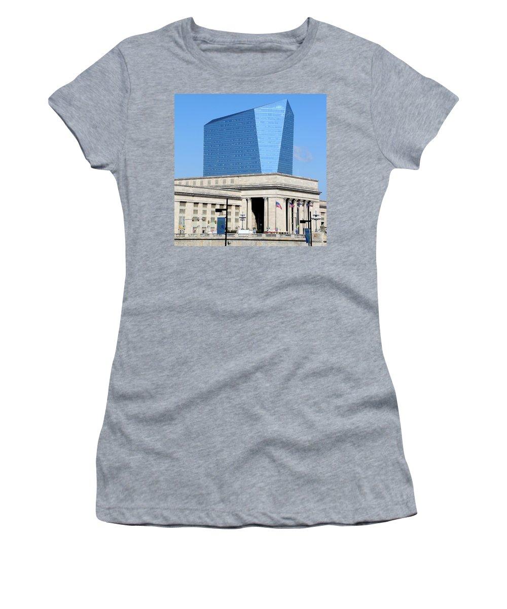 Philadelphia Train Station Women's T-Shirt featuring the photograph Philadelphia 2 by Andrew Fare