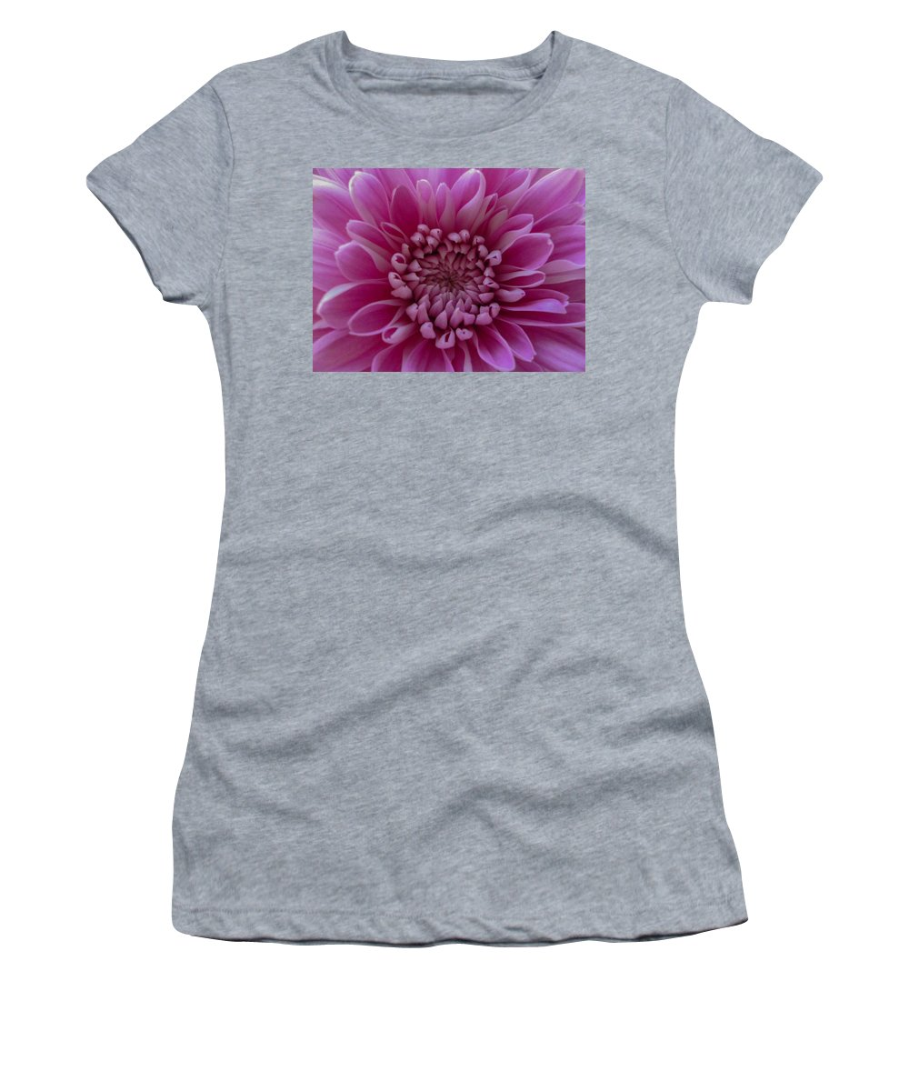 Pink Flower Women's T-Shirt (Athletic Fit) featuring the photograph Pink Flower by Dawn OConnor
