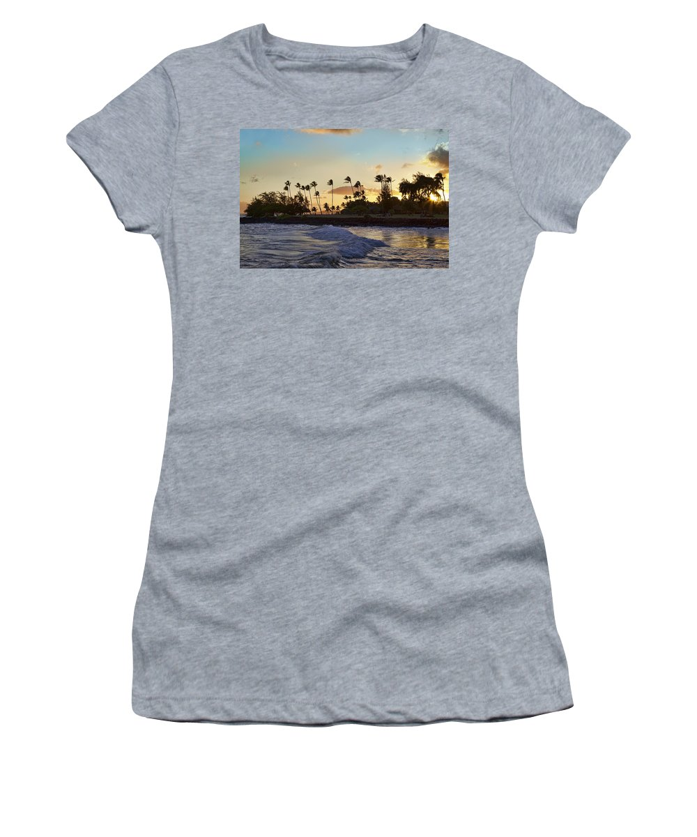 Poipu Sunset Women's T-Shirt featuring the photograph Poipu Sunset by Kelley King