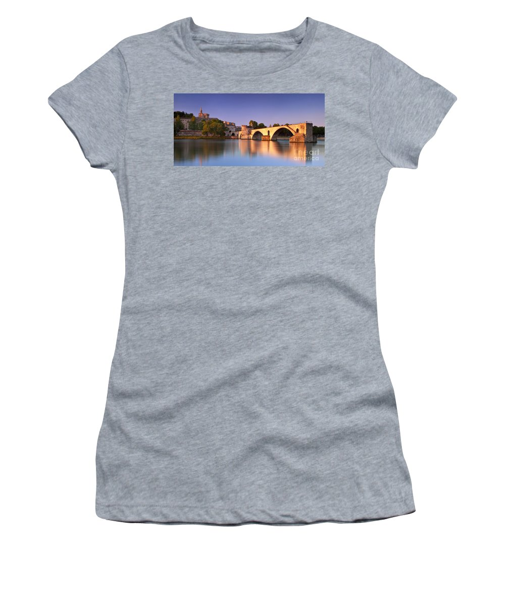Pont St Benezet Women's T-Shirt featuring the photograph Pont St. Benezet by Brian Jannsen