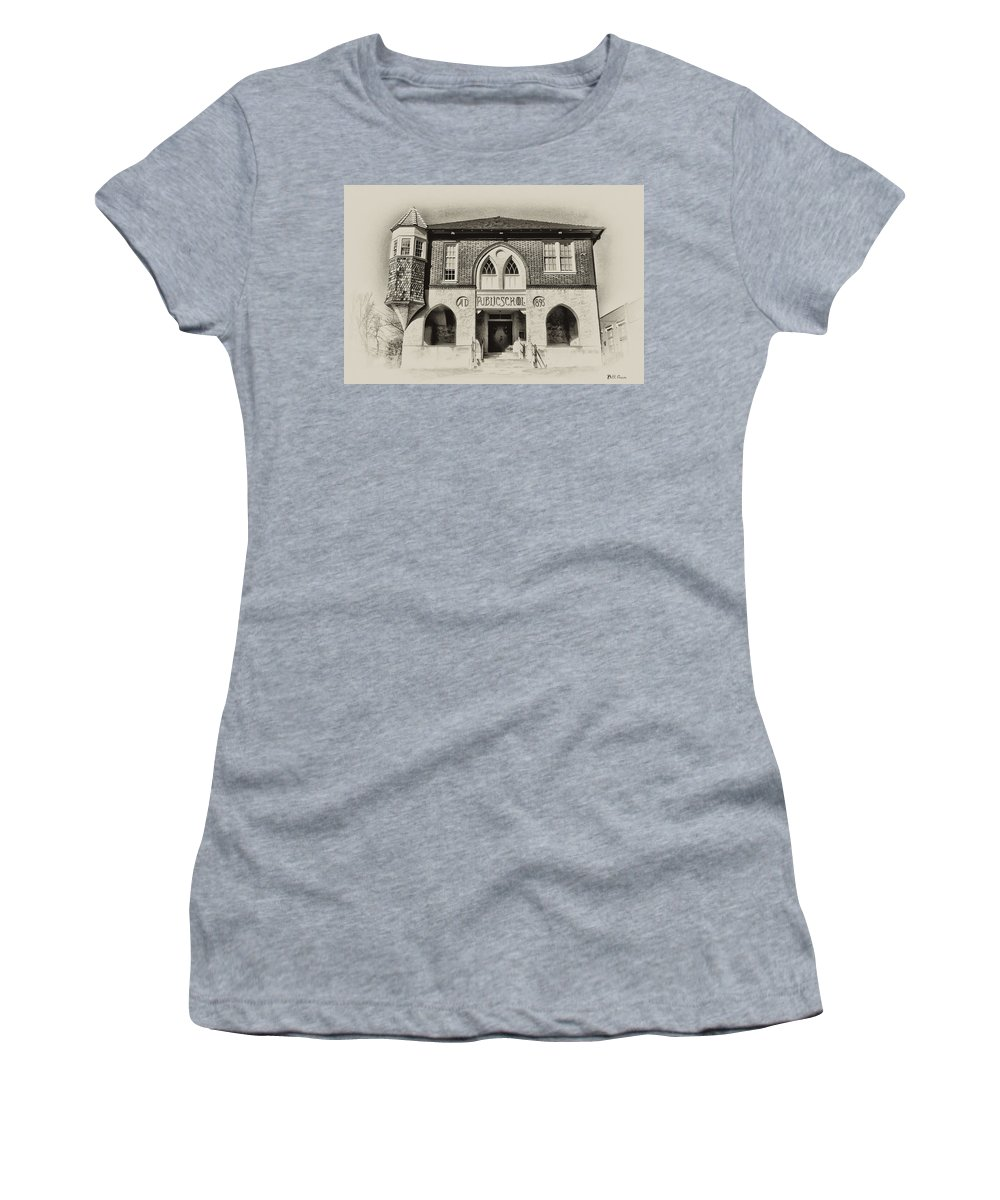 Bluebell Women's T-Shirt featuring the photograph Public School by Bill Cannon