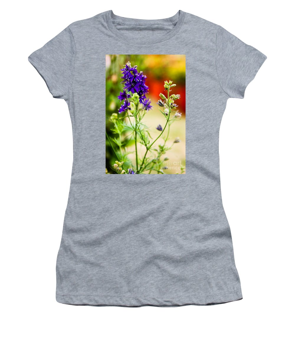 Flower Women's T-Shirt featuring the photograph Purple Flowers by Syed Aqueel