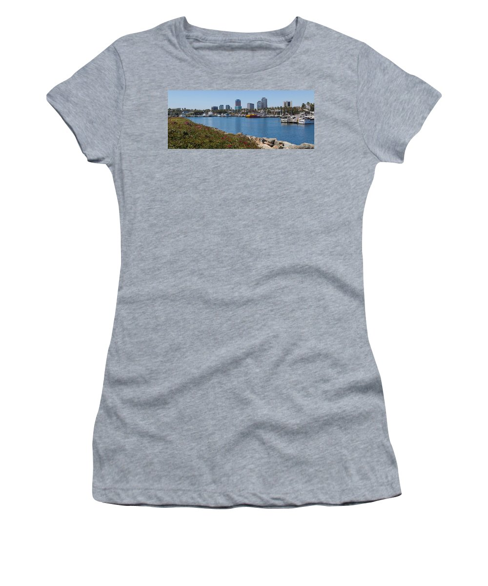 Smith Women's T-Shirt (Athletic Fit) featuring the photograph Rainbow Harbor by Heidi Smith