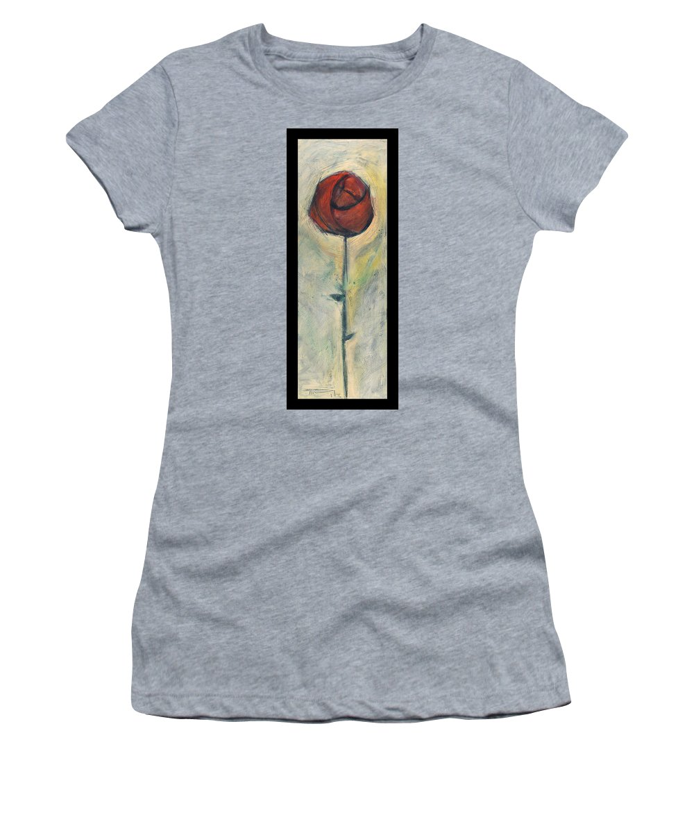 Rose Women's T-Shirt (Athletic Fit) featuring the painting Rose by Tim Nyberg