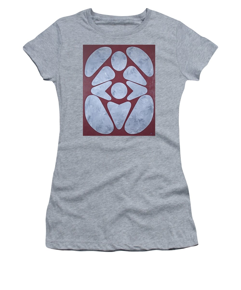 Abstract Women's T-Shirt (Athletic Fit) featuring the painting Sacred Heart by James Hamilton