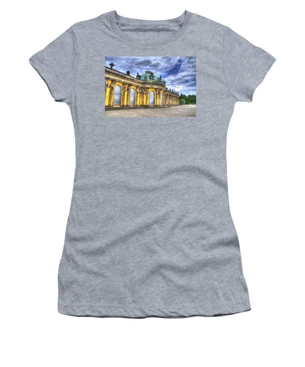 Neuer Garten Women's T-Shirt featuring the photograph Schloss Sanssouci   Berlin by Jon Berghoff
