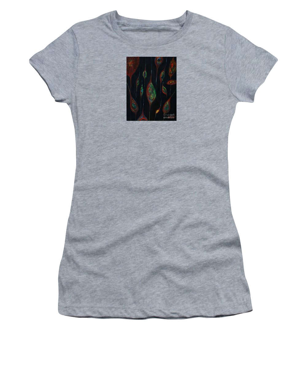 Abstract Women's T-Shirt featuring the painting Seeds Of Life by William Bezik